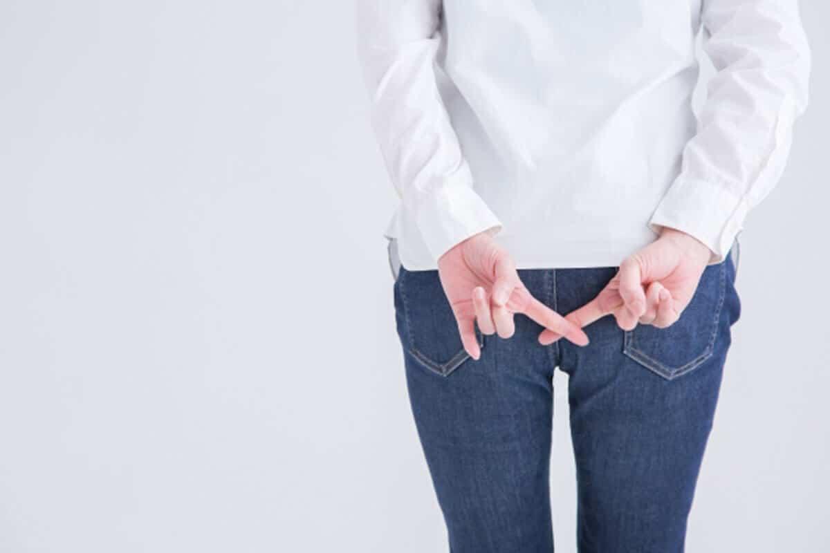 女性のお尻時痔のイメージ