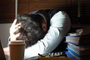 てんかんの原因過度の疲労・ストレスイメージ