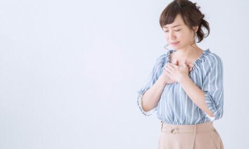 過呼吸・過換気症候群・女性苦しいイメージ